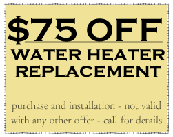 water heater replacement offer from Littleton plumbers